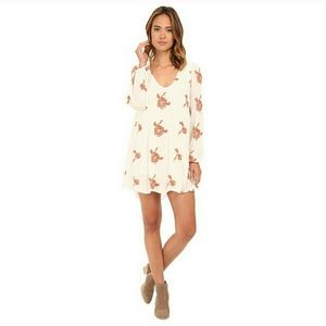 Free People Emma floral embroidered swing dress